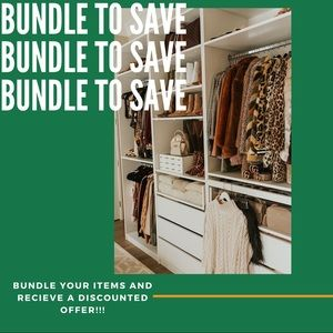 Bundle items and receive a discounted offer!